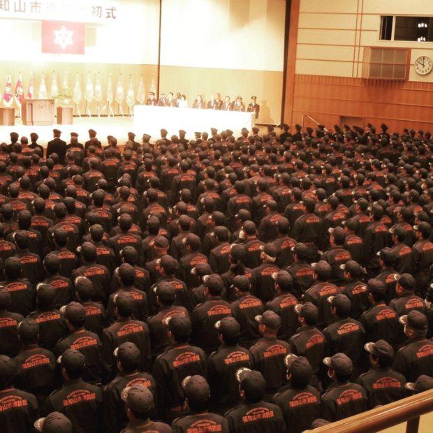 福知山市にて消防出初式が約1800人の市の消防本部と消防団ご参加の下、開催されました