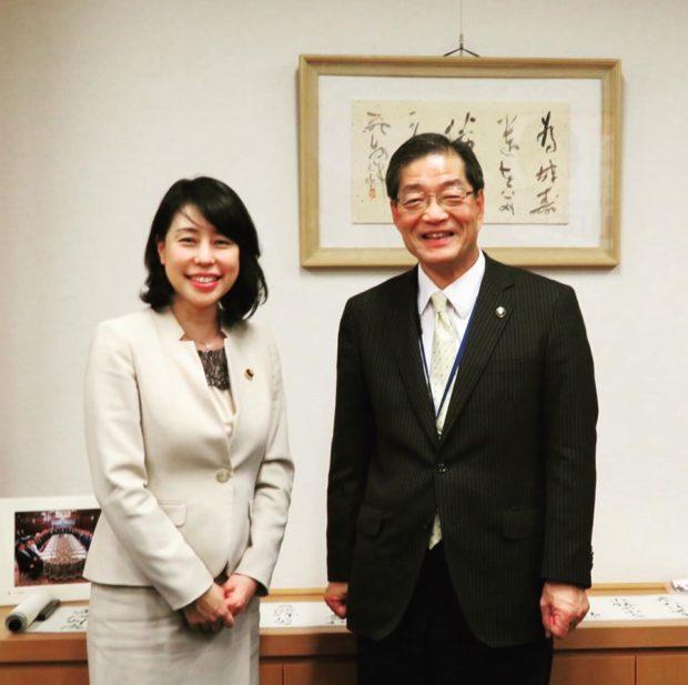 国会事務所に、山崎善也綾部市長がご来訪されまし。