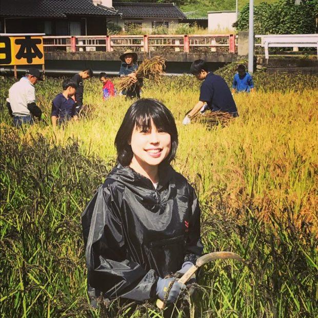 居母山クラブの田んぼアートの収穫祭に参加しました