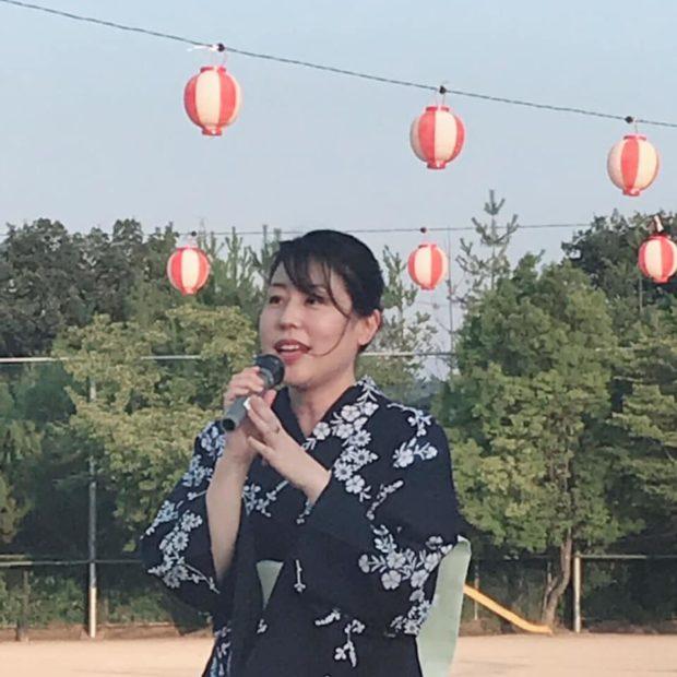 浴衣で盆踊り、そして連合京都北部地域協議会の中小労組交流ビアパーティーへ(^^♪