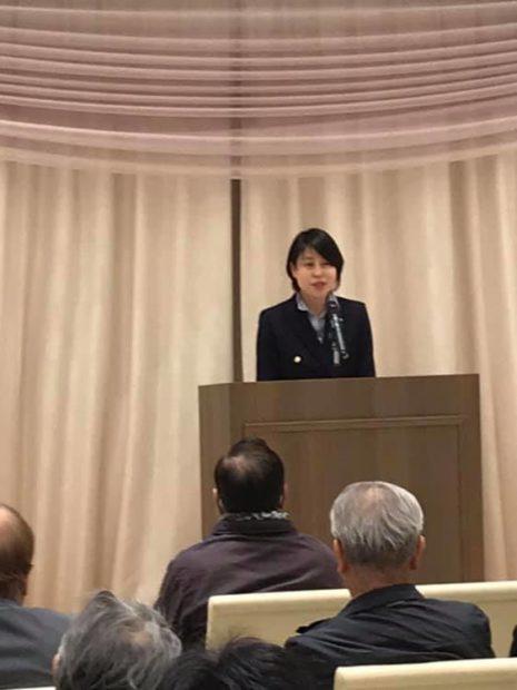 京都府議会議員 予定候補塩見さとるさんの時局講演会