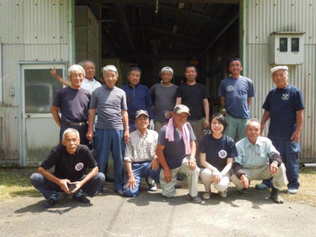 福知山、農機組合の皆さんと居母山クラブの皆さんと楽しく懇談しました。