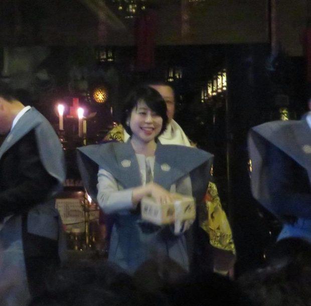 京都一乗寺 狸谷山不動院にて、節分祭豆まきをさせていただきました。