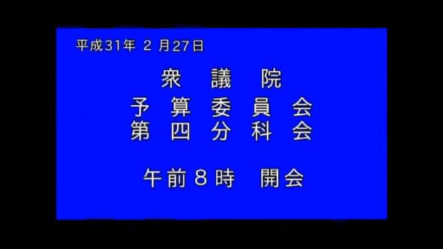 【動画】予算委員会第四分科会で質問しました。