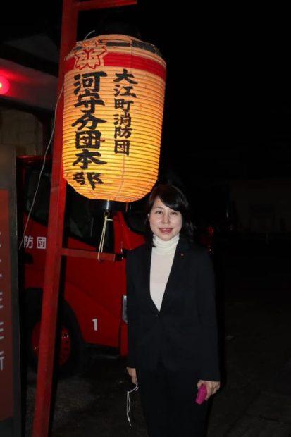 消防団年末特別警戒の激励に回りました。(福知山市内)