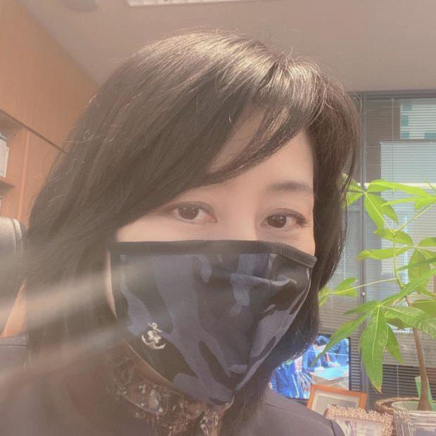 『海上自衛隊』のマーク入り手作り布マスク
