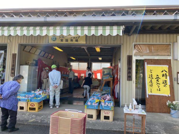 福知山市シルバー人材センターの朝市でお野菜を購入