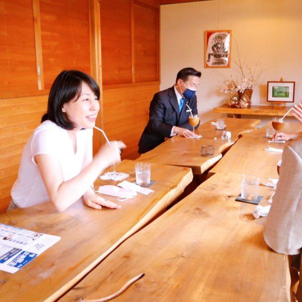 福山哲郎幹事長と共に終日地元をまわりました。
