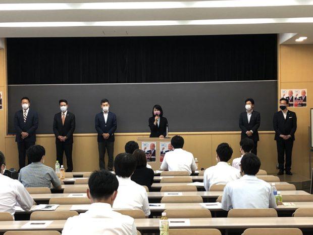 京都市交通労組中央委員会にてご挨拶。